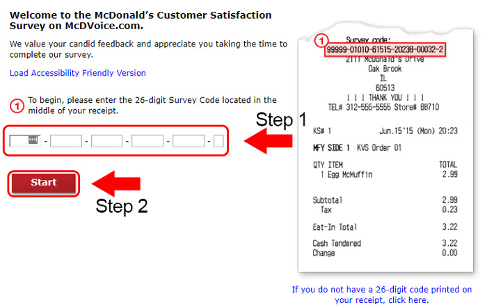 McDonald's Customer Satisfaction Survey At www.mcdvoice.com